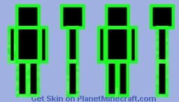 Neon Green Spectre Minecraft Skin