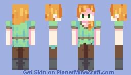 Just an Average Alex Minecraft Skin