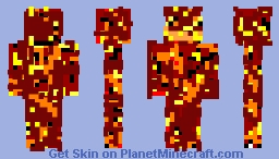 Lava Monster Minecraft Skin