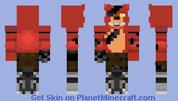 FoxyThePirateFox Minecraft Skin