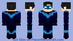 Nightwing / Dick Grayson (Rebirth) JC Minecraft Skin