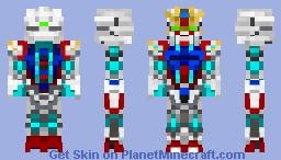 Star Build Strike Gundam - RG SYSTEM MODE Minecraft Skin