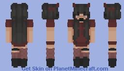 . ˚◞♡ 𝖈𝖚𝖙𝖊 𝖉𝖊𝖛𝖎𝖑  ♡ . ˚◞ Minecraft Skin