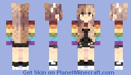 Rainbow Deluxe Minecraft Skin