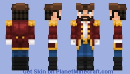Captain Henry RedCoat Minecraft Skin