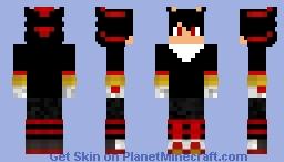 human shadow the hedgehog Minecraft Skin