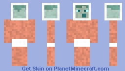 Boxhead steve (use helmet only) Minecraft Skin