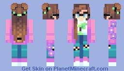 thristy pink hood Minecraft Skin