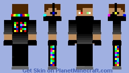 Rainbow Gamer Minecraft Skin