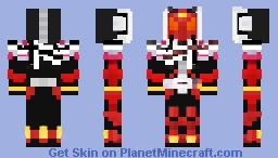 Kamen Rider Zi-O Decade Armor OOO Form Minecraft Skin