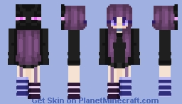 ender girl Minecraft Skin