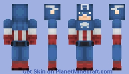 Captain America ( Classic ) ( MARVEL LEGACY ) Minecraft Skin