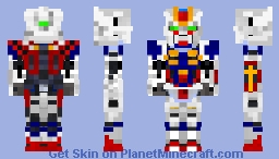 Force Impulse Gundam -ZGMF-X56S/α Minecraft Skin