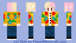 BTS IDOL V Minecraft Skin