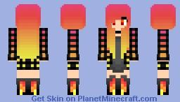 Sunset Emo Minecraft Skin