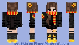 เε૨ყαɳα - Gryffindor Winter Girl Minecraft Skin