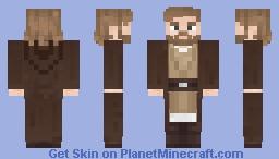 Obi-Wan Kenobi - Star wars: Episode II: Attack of the Clones (with robes) Minecraft Skin