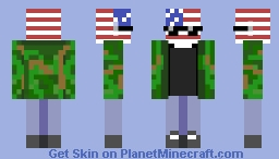 ~Countryhumans : Usa/America~ Minecraft Skin