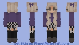 violet Minecraft Skin