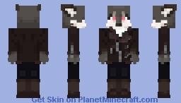 Biker wolf Minecraft Skin