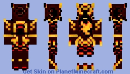 Inferno,the molten god of fire( legs better in game) Minecraft Skin