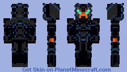 Obsidian Fury - Kaiju Berserker Minecraft Skin