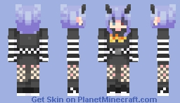 demon e-girl Minecraft Skin