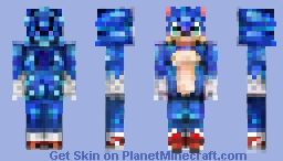 Sonic The Hedgehog (Sonic movie 2019, old design) Minecraft Skin