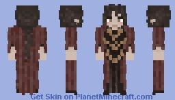 Alaine Delmotte Dark Dress Minecraft Skin