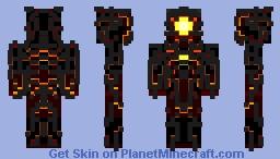Eruptacus,the heart of volcano. Minecraft Skin