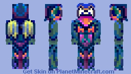 ﴾ξꭚꞕꝍ₮₮ἷ﴿ Aspirin60 Fan Skin - the winged, wired frog Minecraft Skin