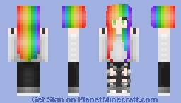 Color 's hair girl Minecraft Skin