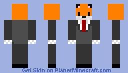 Fox in a suit Minecraft Skin