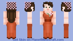 An elegantly dressed young woman attending a party in the mid 1900's Minecraft Skin