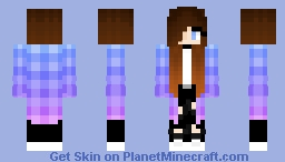 Galaxy Jacket girl Minecraft Skin