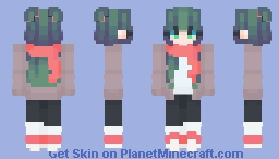 a girL wiTh a scArf xd Minecraft Skin