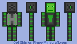 green spaceman Minecraft Skin