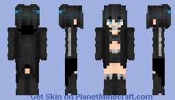 Black Rock Shooter Minecraft Skin