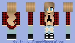 Country girl I love you Minecraft Skin