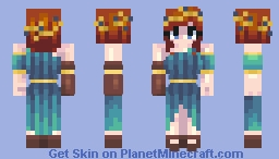 CE - Warrior Princess Minecraft Skin