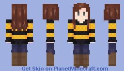 Hufflepuff Girl (old) Minecraft Skin