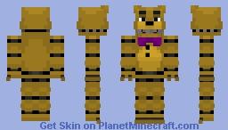 "FNaF: ~ Fredbear (Based on ""Save Me"") ~ Minecraft skin! Minecraft Skin"