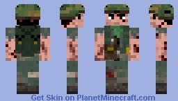 Chris Taylor -Platoon Vietnam Soldier (skin under top layer) Minecraft Skin