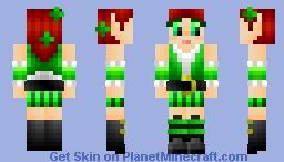 Leprechaunette - GreenLeaf and PhrozenCookie build + skin contest Minecraft Skin