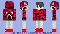 Red Bape Hoodie Minecraft Skin