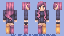 I can see how you run for the stars Minecraft Skin