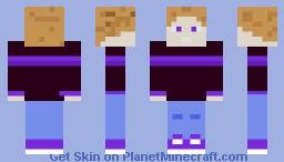 Purple Strip Male Skin Minecraft Skin