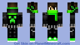 Green sweater with scarf Minecraft Skin