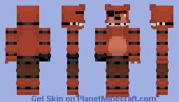 FNaF ~ Unwithered Foxy ~ Minecraft skin! Minecraft Skin