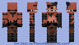 FNaF 2 ~ Withered Foxy ~ Minecraft skin! Minecraft Skin